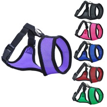 Adjustable Comfort Soft Breathable Dog Harness Pet Vest Rope Dog Chest Strap Leash Set Collar Leads Harness(China)