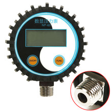 1pc New G1/4 Battery Gas Power Digital Pressure Gauge 0-200PSI NP-60 Tester Tool Mayitr(China)