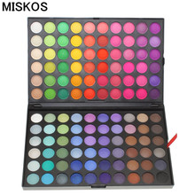 Miskos Makeup Palette Pro 120 Full Color Eyeshadow Palette Make up Palletes Glitter Eye Shadow Cosmetics Beauty Eyeshadows(China)
