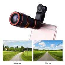 Universal 12X Zoom Mobile Phone Lens Clip-on Telescope Camera Lens for iPhone 7 6S plus Samsung S7 S6 edge xiaomi huawei lenovo(China)