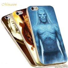 Minason Jon Snow Stark Wolf Night King The Game of Thrones Case For iPhone X 8 5 5S SE 6 6S 7 Plus Soft Anti-knock Phone Cover(China)
