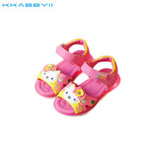 KKABBYII Summer Girls Sandal With Light Kids Cartoon Hello Kitty Glowing Sandals Baby Cute Beach Sandal Shoes