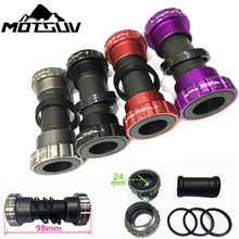 Bicycle Bottom Bracket Bike Axis MTB Road Cycling Plastic and Rubber Bottom Bracket Bicycle Aluminum Bolt 68 / 73 mm Crank Axis