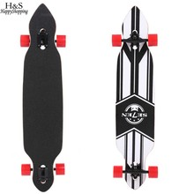 Adult Wooden Deck Skate Board Skateboard 41 Inch Longboard Complete Outdoors Fun Non-slip and Frosting Surface High Quality
