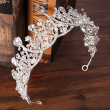 wedding crown bride Rhinestone crystal crown queen prom pegent large tiara luxury wedding hair accessories hair jewelry