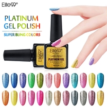 Elite99 All 34 Colors Platinum UV Gel Shining Nail Gel Polish Long Lasting UV Fingernail Gel Soak-off LED UV Color Gel 10ML(China)