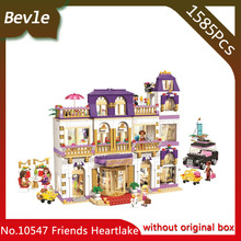 Bevle Store Bela 10547 1585pcs Friends City Hotel Building Blocks set Bricks For Children Toys best Toys Lepin 41101Gift(China)