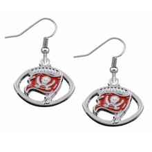 1pair women football shape new silver plated Tampa Bay Buccaneers earring jewelry(China)