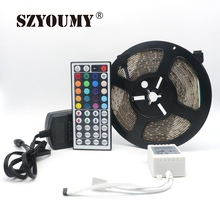 SZYOUMY 15 Meters Waterproof RGB 3528 SMD 300 LEDs Strip Light + 3 pcs  44key IR Remote Controller + 3pcs 12V 2A Power Supply