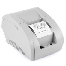 Hot-selling ZJ - 5890K Mini 58mm Black and White Manual POS Receipt Universal Ticket Thermal Printer with USB Port EU PLUG