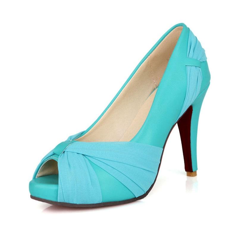 Fashion Open Toe Platform High Heels Women Shoes Sexy Ribbon Decoration Lady Evening Party Wedding Shoes Thin Heels Women Pumps<br><br>Aliexpress