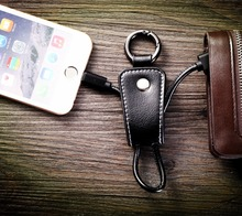 Portable Key Chain Key Ring Micro USB Charger Cable Cord for Android Samsung HTC smartphone