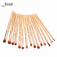 2017 jessup brushes 15pcs Beauty Bamboo Professional Makeup Brushes Set Pincel Eye Shader Liner T137