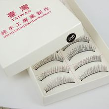 10Pairs 3Size 8mm/10mm/11mm Natural Long Eye Lash Long Thin False Eyelashes Cross Clear Party Eye Lashes DIY Manicure Tools(China)