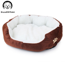 Bruce&Williams Paw Print Dog Bed Pet Bed Warm Soft Dogs Kennel Dog House Pet Sleeping Bag Cat Bed Cat House Cama Perro DC0071