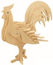 BOHS Building Toys Child 3D Puzzle Animal Scale Model Cock Rooster DIY(China)