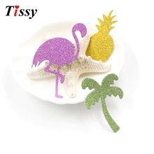 50PCS DIY Flamingo&Pineapple Paper Stickers Glitter Paper Card Confetti Home Table Decor Wedding/Flamingo/Hen Party Decoration