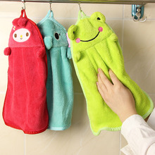Nursery Hand Towel Soft Plush Fabric Lovely Cartoon Animal Hanging Wipe Bathing Towel 1pcs
