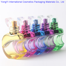 Hot 50Pcs Apple Spray Perfume Bottle , Colorful 15ml Glass Perfume Bottle Supplier,15cc Art Glass Perfume Bottle with Sprayer(China)