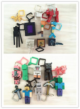 Minecraft Keychain toys 10pcs/set MC Models creeper Brinquedos Keyring Clip Figures Games Toys Hot Sale gift for kids