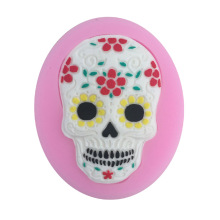 1PCS Skull Shape Silicone Cake Mold, For Chocolate, Sugar, Cupcake, Cake Decorating M100(China)