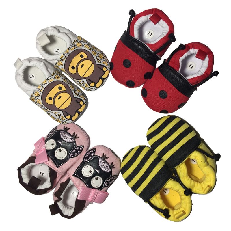 Soft Cartoon Baby Boys Girls Infant Shoes Slippers 0-6 6-12 New Style First Walkers Cotton Skid-Proof Kids Shoes<br><br>Aliexpress