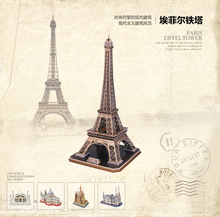 3D Puzzle Toys Eiffel Tower Model MC091H 36*39*78cm Children's Gift(China)