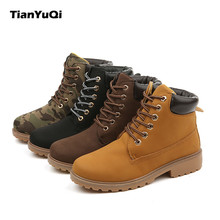 Tian YuQi 2017 new men Casual Shoes Winter lovers shoe boots with boots and boots with a pair of warm Martin boots High-quality