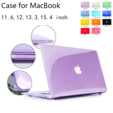 New Crystal/Matte shell case cover for Apple Macbook Air Pro Retina 11.6 12 13.3 15.4 inch laptop Cases For Mac book bag