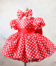 New Design/ Minnie Mouse Mickey Inspired Halloween Costume Dress tutu with bow Toddler Easter Dresses