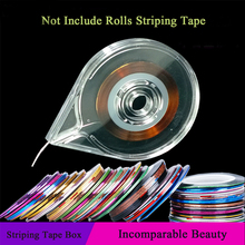 Nail Art Tools Stickers Roller Box Holder Easy Use Clear Design Striping Tape Line Case Tool For DIY Manicure Beauty