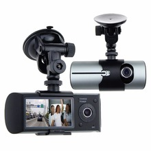 "2.7"" TFT LCD HD Front & Rear Dual Cam Car DVRs Video Recorder Camcorder Vehicle Blackbox Dvr with GPS Video Registrator Dashcam(China)"
