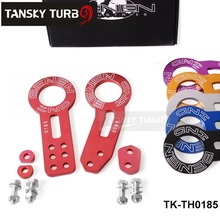 TANSKY -Anodized Universal Front+Rear Tow Hook Billet Aluminum Towing Kit For JDM Racing TK-TH0185