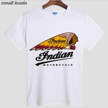 Indian Motorcycle t-shirt O-Neck Fashionable vintage Indian t shirts Cotton men's short sleeve t shirt