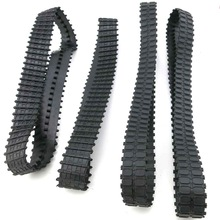 Closed rubber track DIY technology model making robot Tank track timing belt wheel accessories