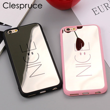 Soft Coque Cover Case For iPhone 7 8 8plus Fundas Luxury Letter Pink Nice Smile Phone Cases For iPhone 6 6s Plus 5 5s SE Mirror(China)
