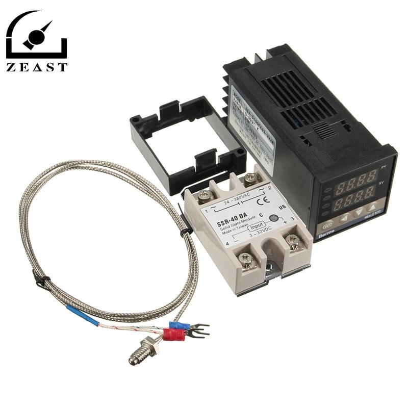 Digital 110-240V PID REX-C100 Temperature Controller + 40A SSR + K Thermocouple New Arrival<br><br>Aliexpress