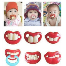 2016 New Silicone Baby Funny Nipple Dummy Baby Soother Lovely Lips Toddler Pacy Orthodontic Nipples Teether Baby Pacifier Care(China)