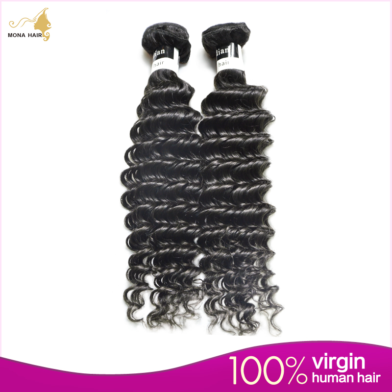 Free shipping 7A 1pcs lot(8~32inch) 100% pure unprocessed remy virgin mona hair natural #1b  Indian curly hair<br><br>Aliexpress