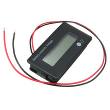 12V 24V 36V 48V LCD Acid Lead Lithium Battery Capacity Meter Indicator Digital Voltmeter Voltage Tester adjustable voltage