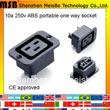 Multifunction CE Rohs 250v 10a abs material black multiple socket 500pcs/lot free shipping by fedex(China)