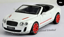 1:32 Scale Metal Diecast Car Model For Bentley Continental Supersports ISR Collection Pull Back Car With Sound&Light - Cabriolet