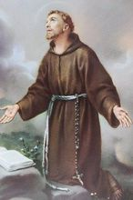 St Francis of Assisi  ORIGINAL oil painting art - TOP art --36 inch art painting # TOP Decor OIL ON CANVAS