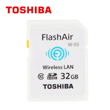 TOSHIBA Flash Air W-03 Memory Card 32GB 16GB wifi SD Card Class 10 Wireless SDHC Memory Card Tarjeta sd WIFI Carte SD For Camera(China)