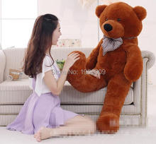 3.94 FOOT TEDDY BEAR STUFFED DARK BROWN WHITE PINK LIGHT BROWN GIANT JUMBO size:120cm NICE GIFT