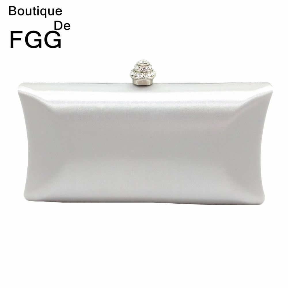 Simple Design Women Bag Silver Evening Clutch Bag Wedding Party Bridal Metal Clutches Purse Ladies Dinner Chain Shoulder Handbag<br><br>Aliexpress