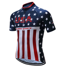 2017 Men USA Camping team cycling jersey outdoor bicicleta Short Sleeve mtb Jersey top shirts ropa ciclismo maillot Sportswear(China)