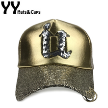 Street Bling Cute Adjustable Bone Hat Embroidery Letters U Girs Snapback Cap Mesh Hat Men Women Baseball Flat Visor Caps YY17123(China)