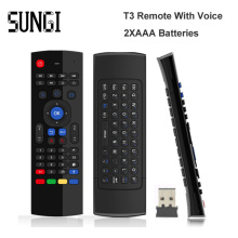 MX3 USB Wireless Keyboard 3 in 1 Air Fly Mouse QWERTY GYRO Sensing Remote IR Learning With Voice Microphone For Android TV Box(China)