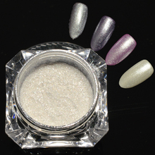 1g Shinning White Diamond Pearl Glitter Powder Nail Art Pigment DIY Shimmer Mermaid Effect Manicure Nail Powder Dust CH235(China)